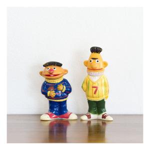 Ernie & Bert squeaky toys, 1978